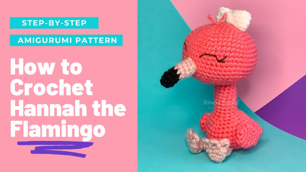 crochet flamingo amigurumi pattern